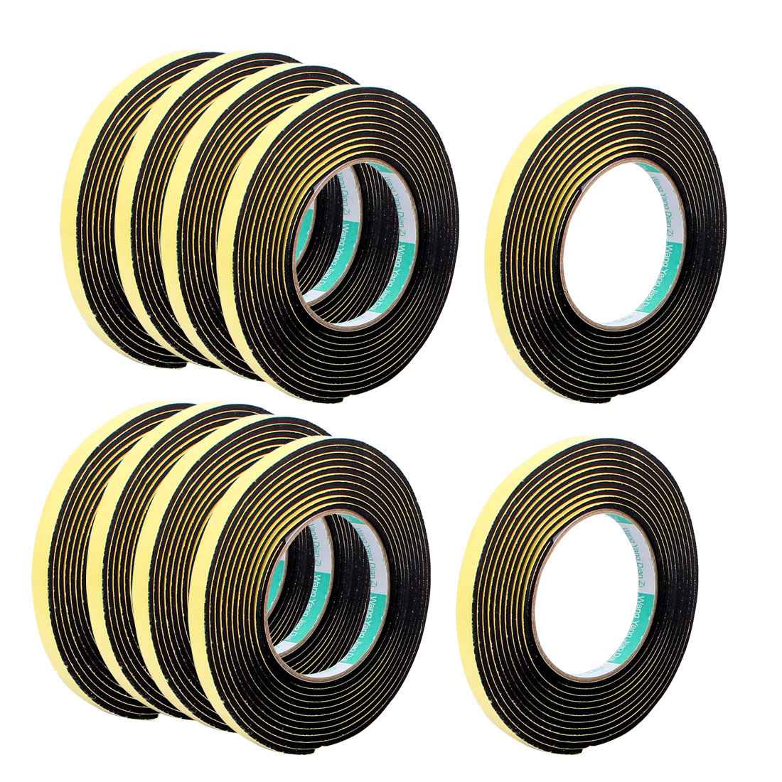 10Pcs 1CM Width 4M Length 3MM Thick Single Sided Sealing Shockproof Sponge Tape