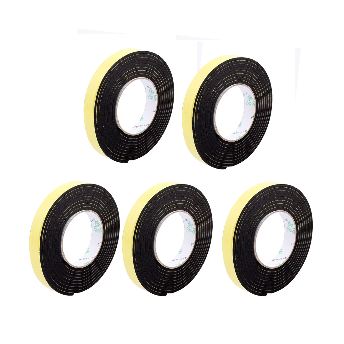 5pcs 2CM Width 4M Length 3MM Thick Single Sided Sealing Shockproof Sponge Tape