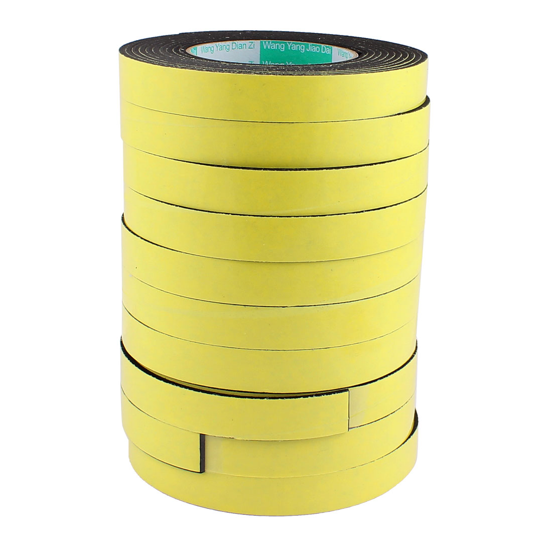 "10 Pcs 0.78"" Width 13.12ft Length 3MM Thick Single Sided Sealing Shockproof Sponge Tape"