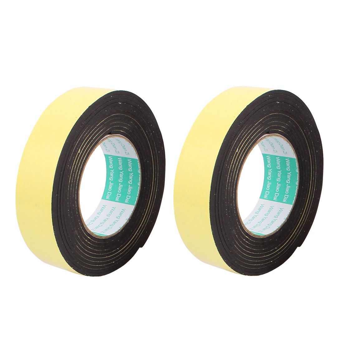 2Pcs 3.5CM Width 4M Length 3MM Thick Single Sided Sealing Shockproof Sponge Tape