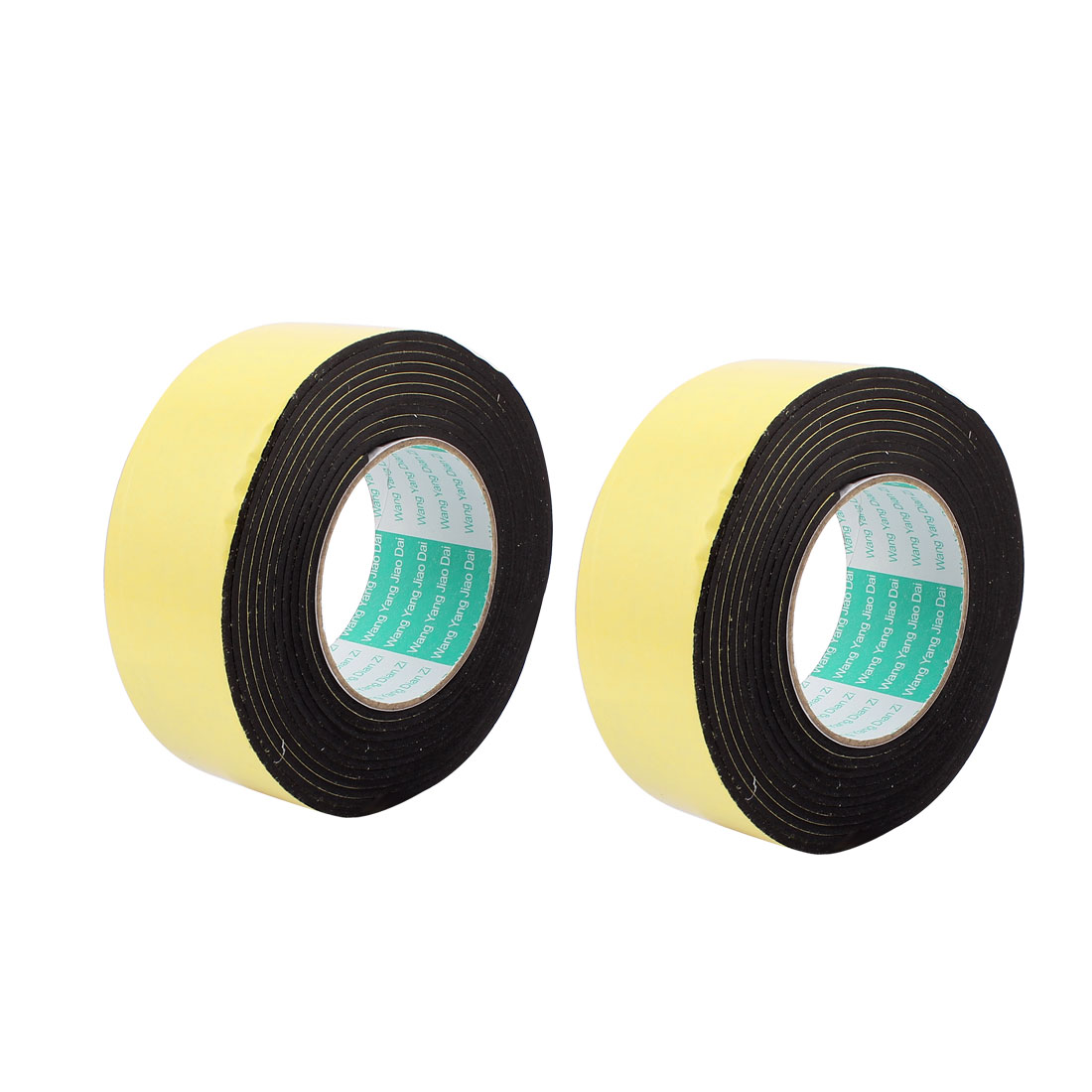 2Pcs 5CM Width 4M Length 3MM Thick Single Sided Sealing Shockproof Sponge Tape