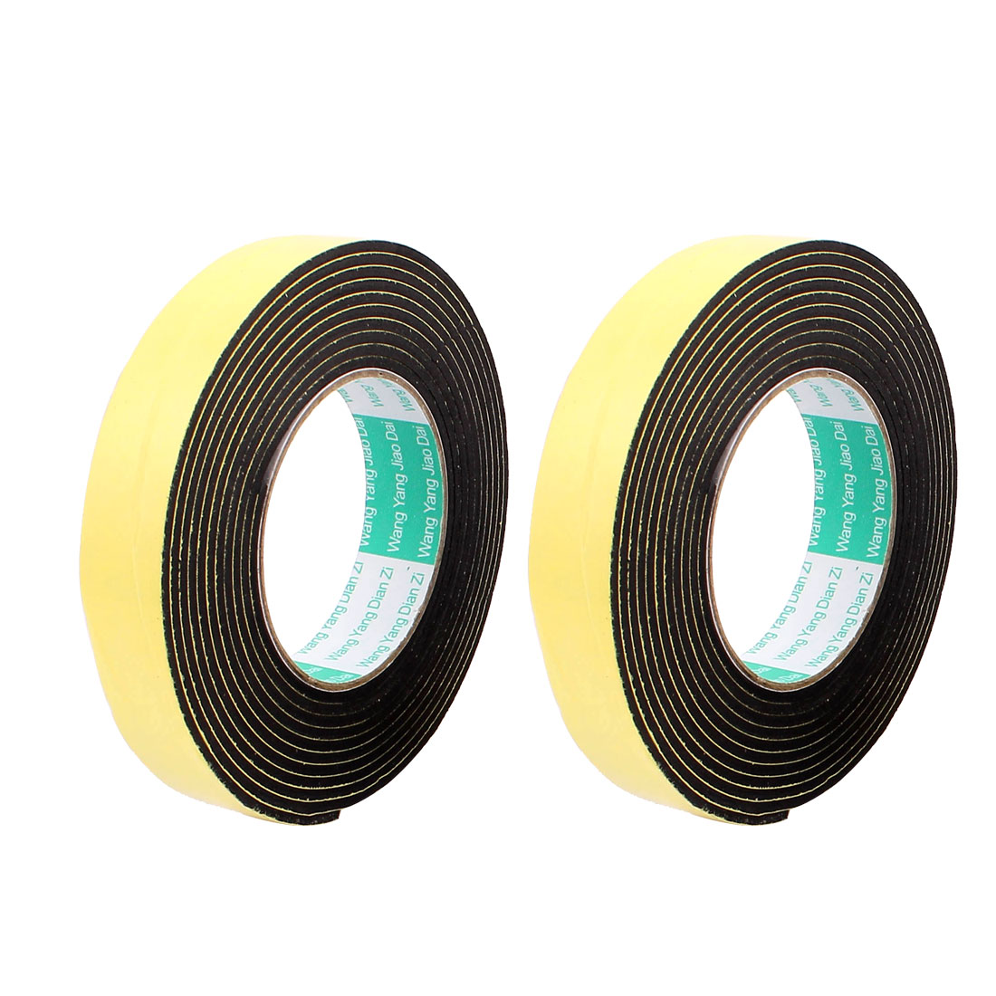 2Pcs 2.5CM Width 4M Length 3MM Thick Single Sided Sealing Shockproof Sponge Tape