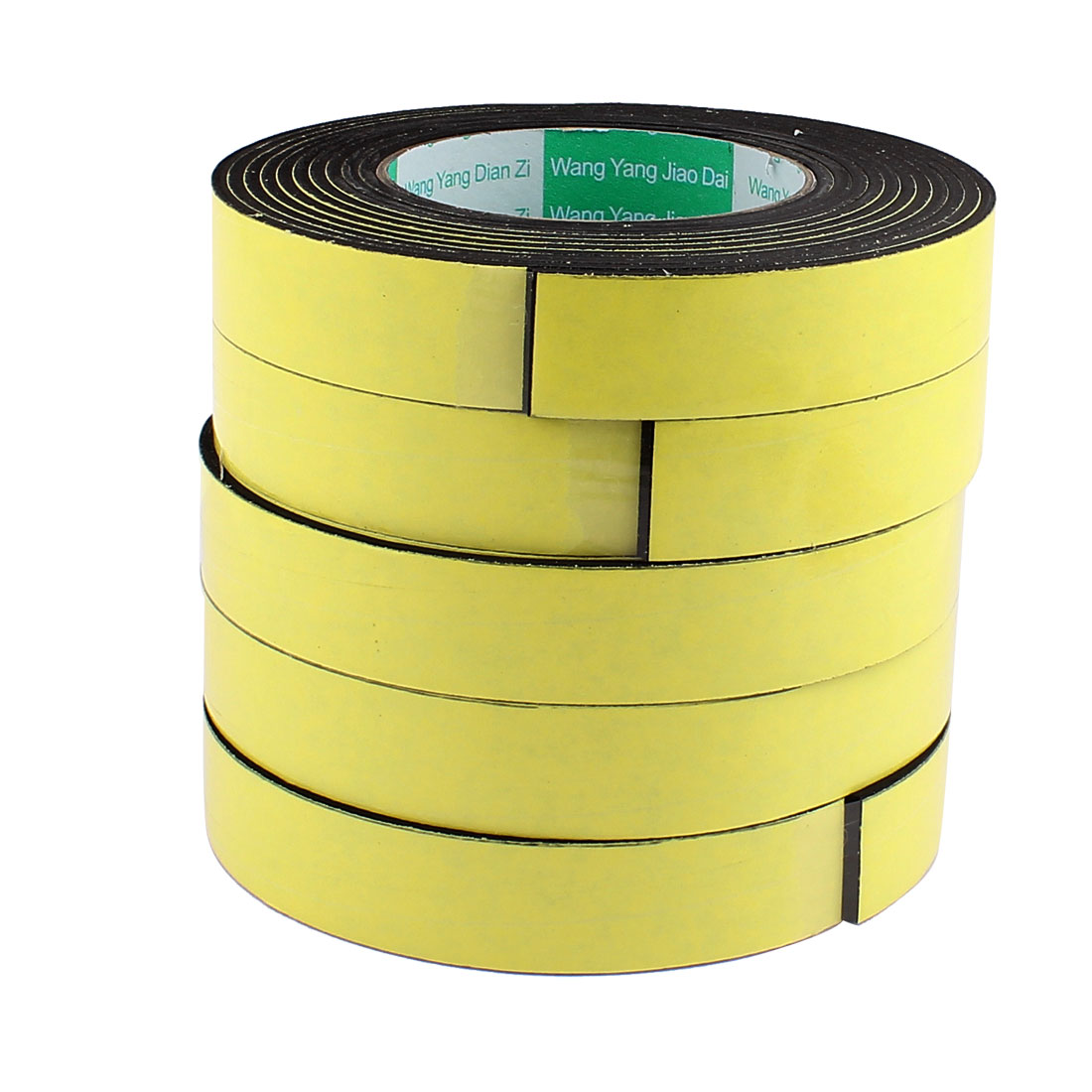 5 Pcs 2.5CM Width 4M Length 3MM Thick Single Sided Sealing Shockproof Sponge Tape