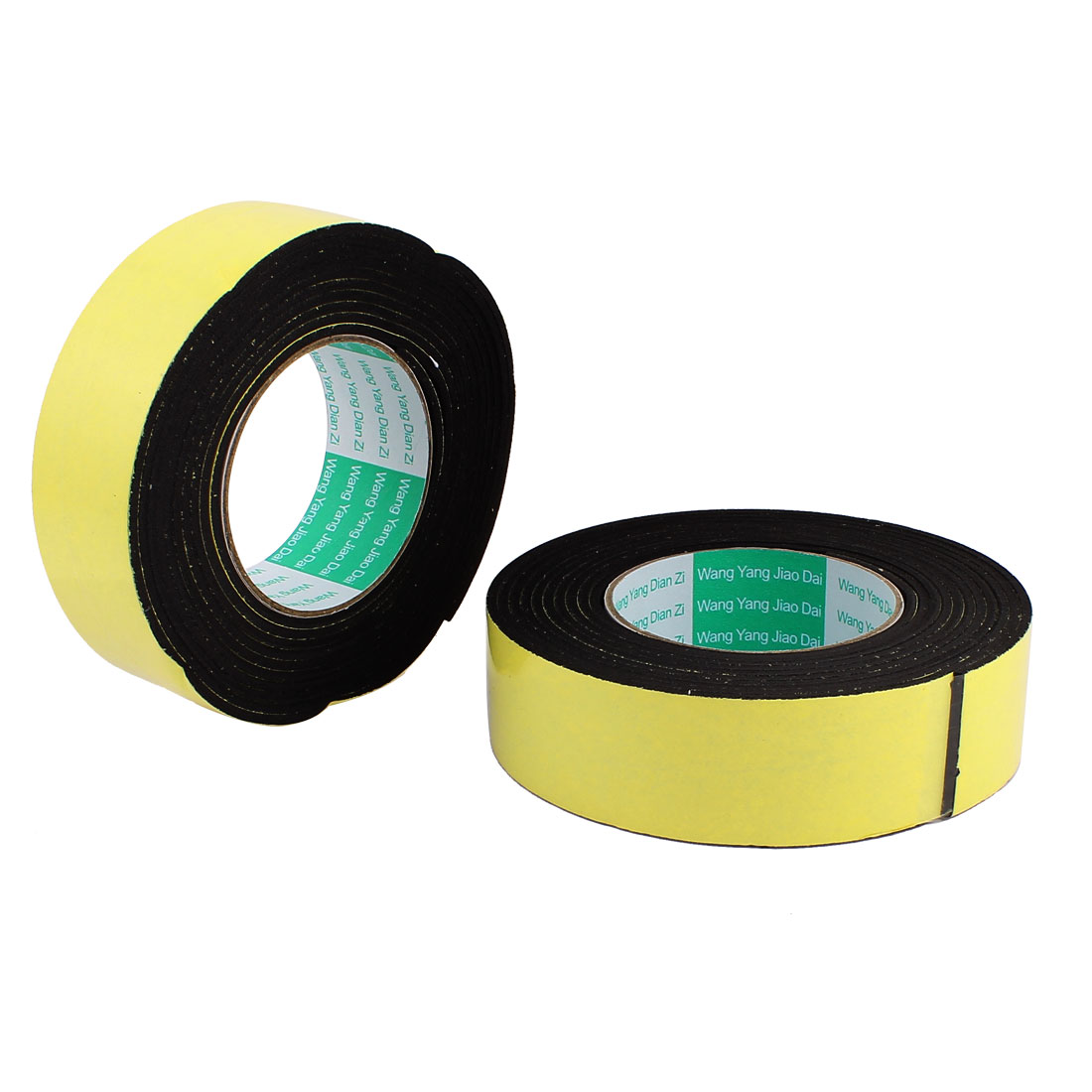 "2 Pcs 1.57"" Width 1.57ft Length 1/10"" Thick Single Sided Sealing Shockproof Sponge Tape"