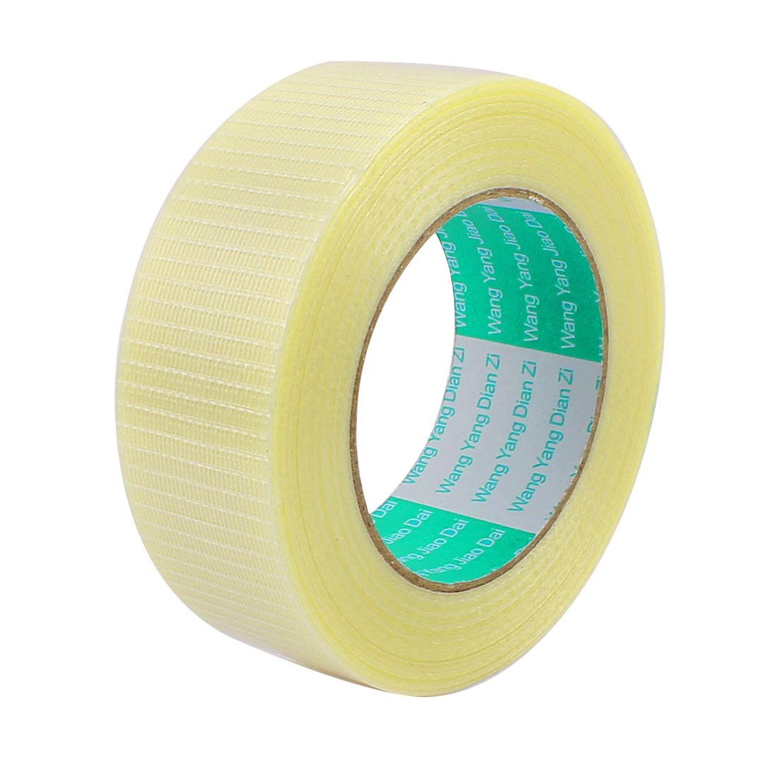 40mm Height 50M Length Long Adhesive Insulating Grid Glass Fiber Tape Roll