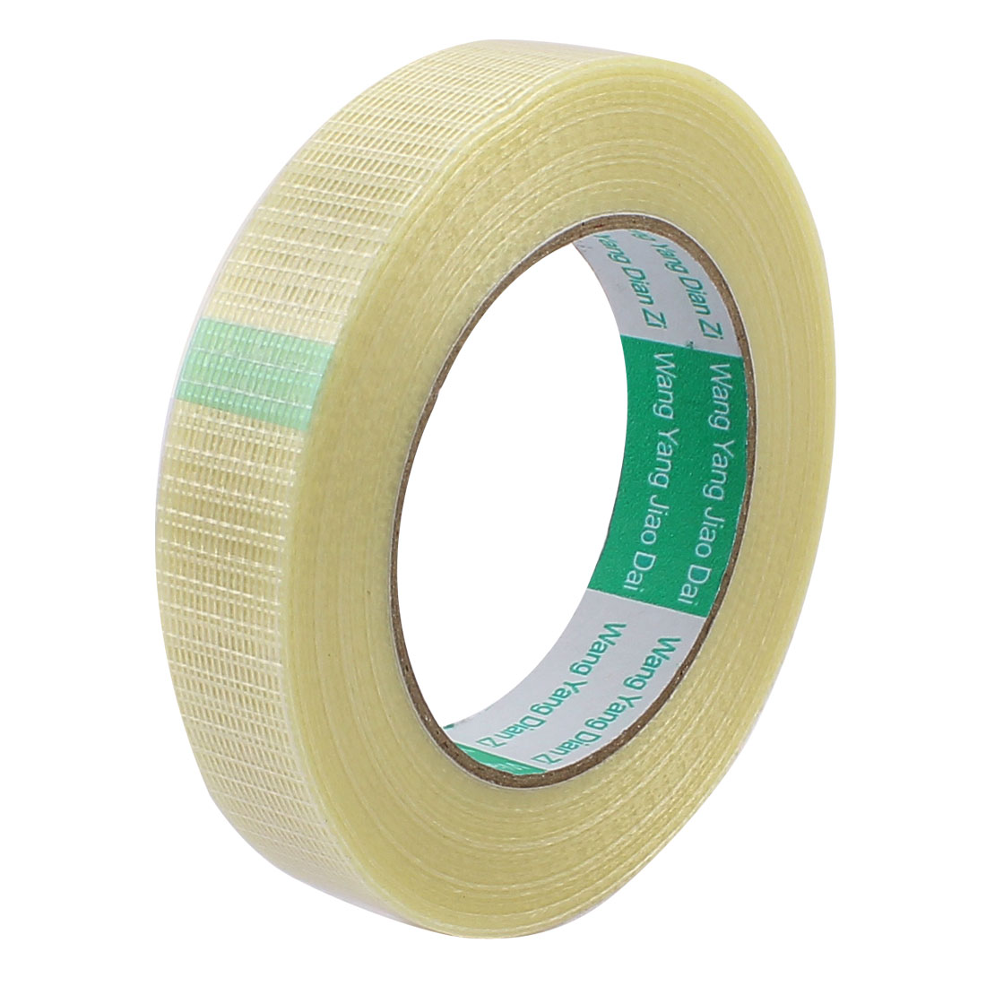 22mm Height 50M Length Long Adhesive Insulating Grid Glass Fiber Tape Roll