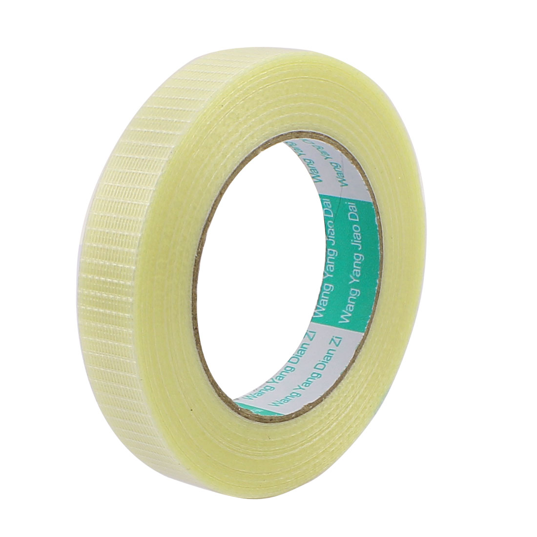 25mm Height 50M Length Long Adhesive Insulating Grid Glass Fiber Tape Roll