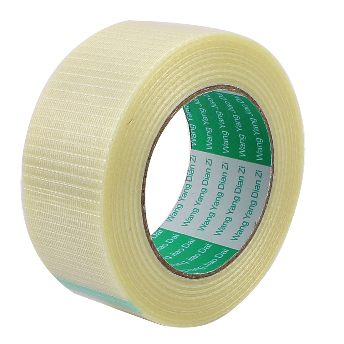 48mm Height 50M Length Long Adhesive Insulating Grid Glass Fiber Tape Roll