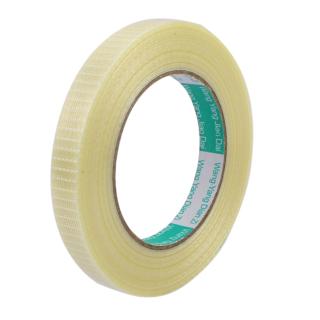 15mm Height 50M Length Long Adhesive Insulating Grid Glass Fiber Tape Roll