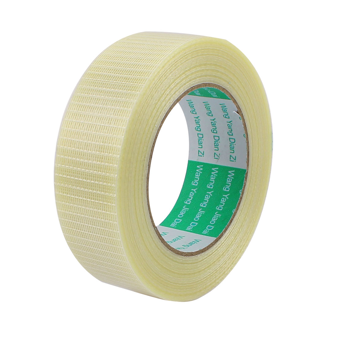 30mm Height 50M Length Long Adhesive Insulating Grid Glass Fiber Tape Roll