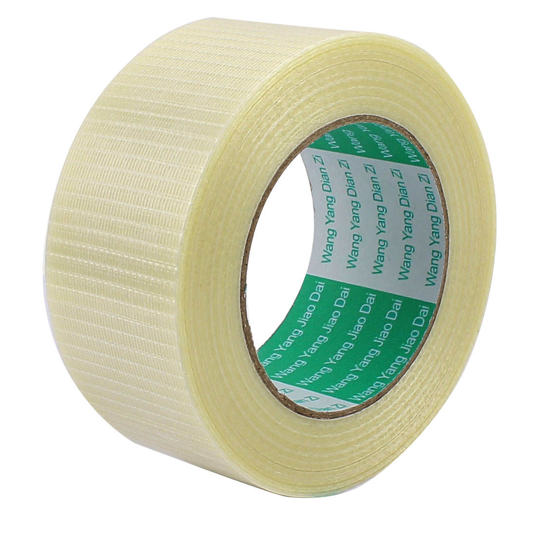 50mm Height 50M Length Long Adhesive Insulating Grid Glass Fiber Tape Roll