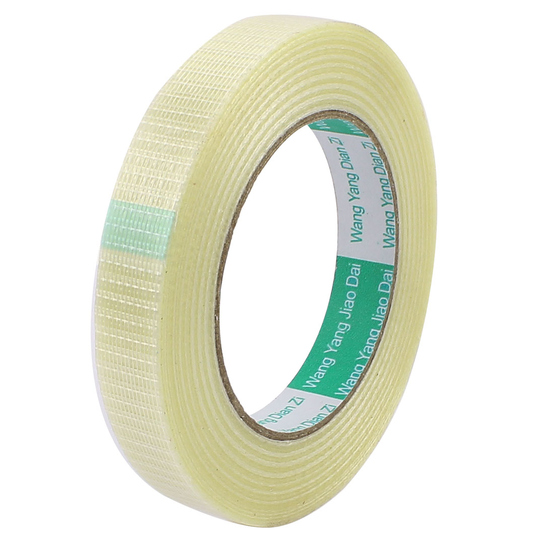 18mm Height 50M Length Long Adhesive Insulating Grid Glass Fiber Tape Roll