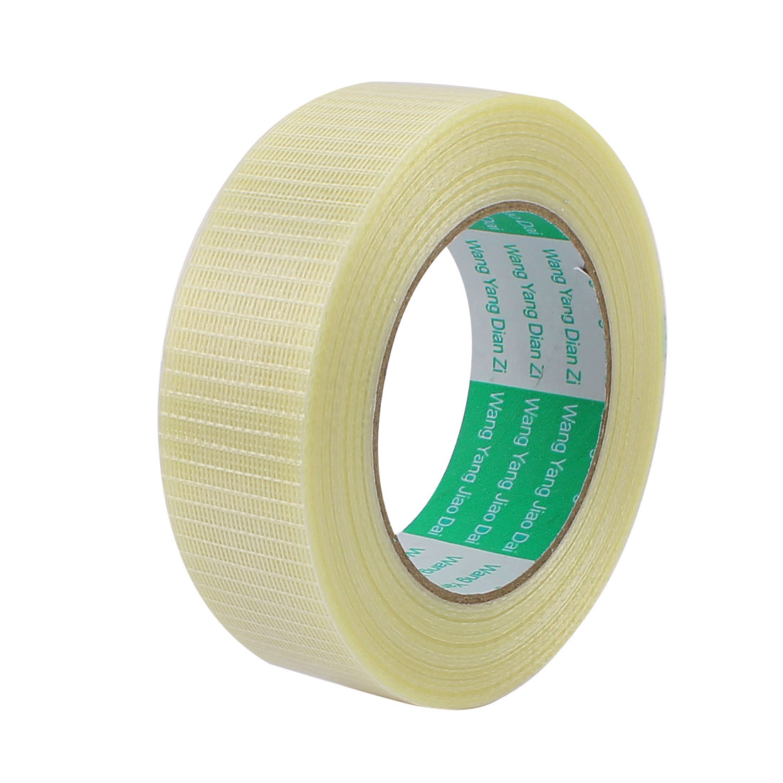 35mm Height 50M Length Long Adhesive Insulating Grid Glass Fiber Tape Roll