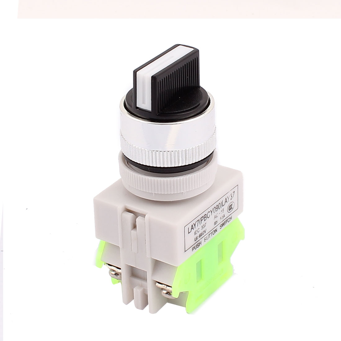 Rotatable AC 600V 10A Circuit Controlling 3 Position Latching Push Button Switch