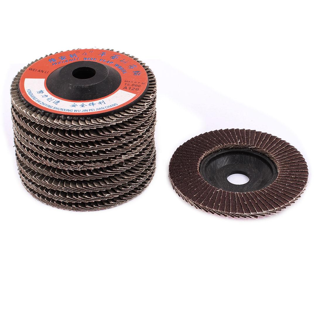 10PCS Coated Abrasive Flap Sanding Discs Buffing Wheel 16mm x 100mm