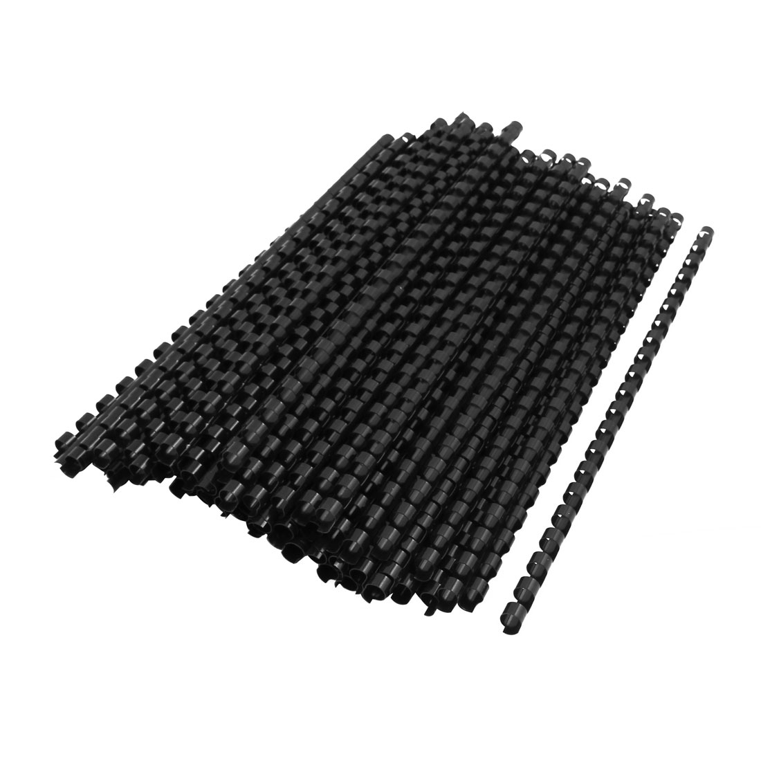 Office School Plastic Spines Binding Combs 8mm Dia 21 Rings Black 100 Pcs