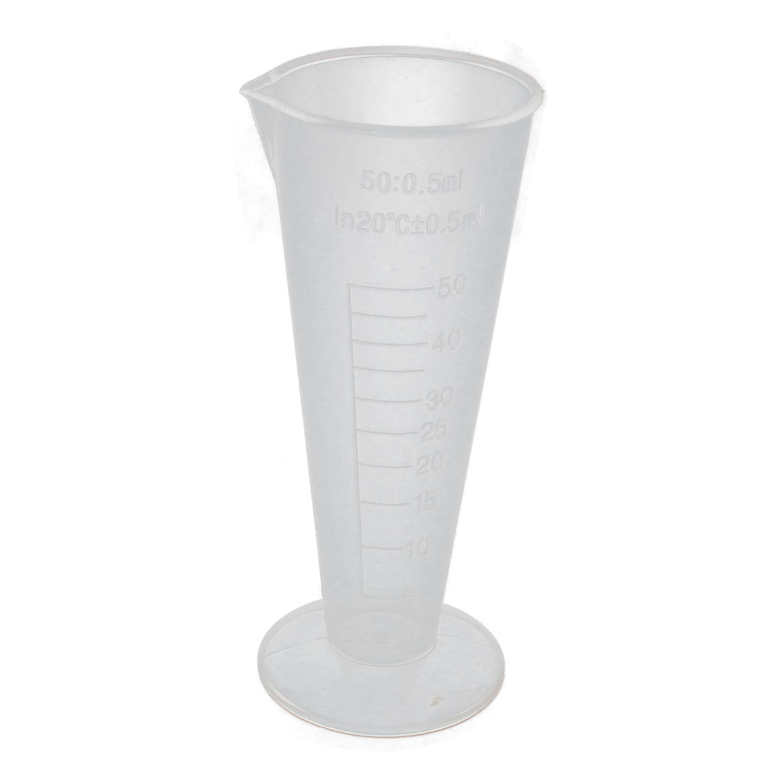 Laboratory Clear Plastic Conical LiquidGraduated Beaker Measuring Cups 50ml