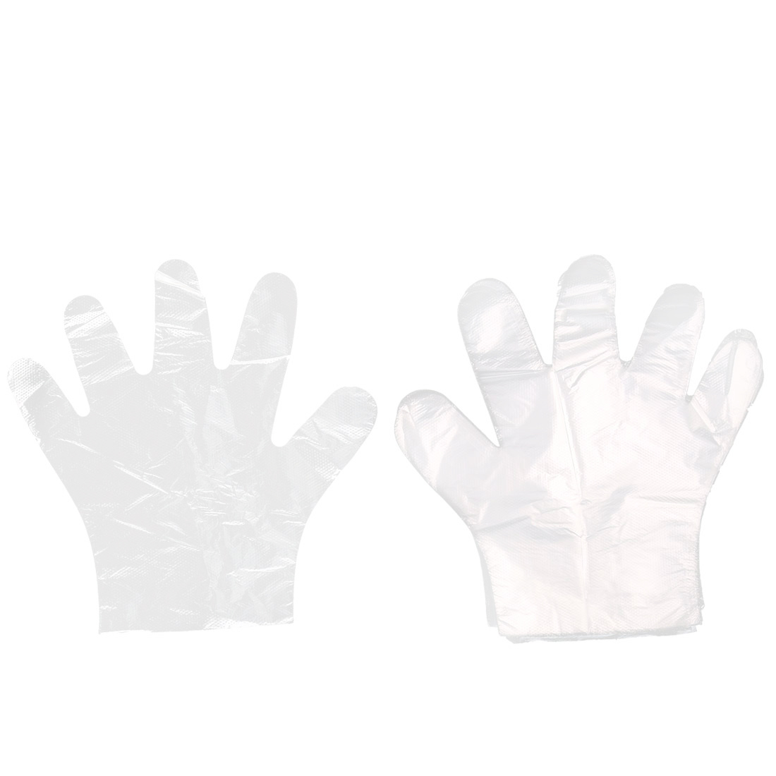 Home Kitchen Restaurant BBQ Clear Plastic Protective Disposable Gloves 50 Pairs