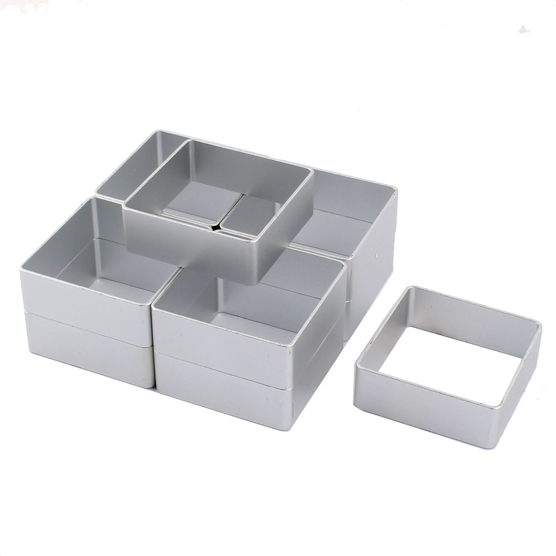 Household Aluminium Alloy Square Cake Cookie Biscuit Bake Mold Mould 10 Pcs