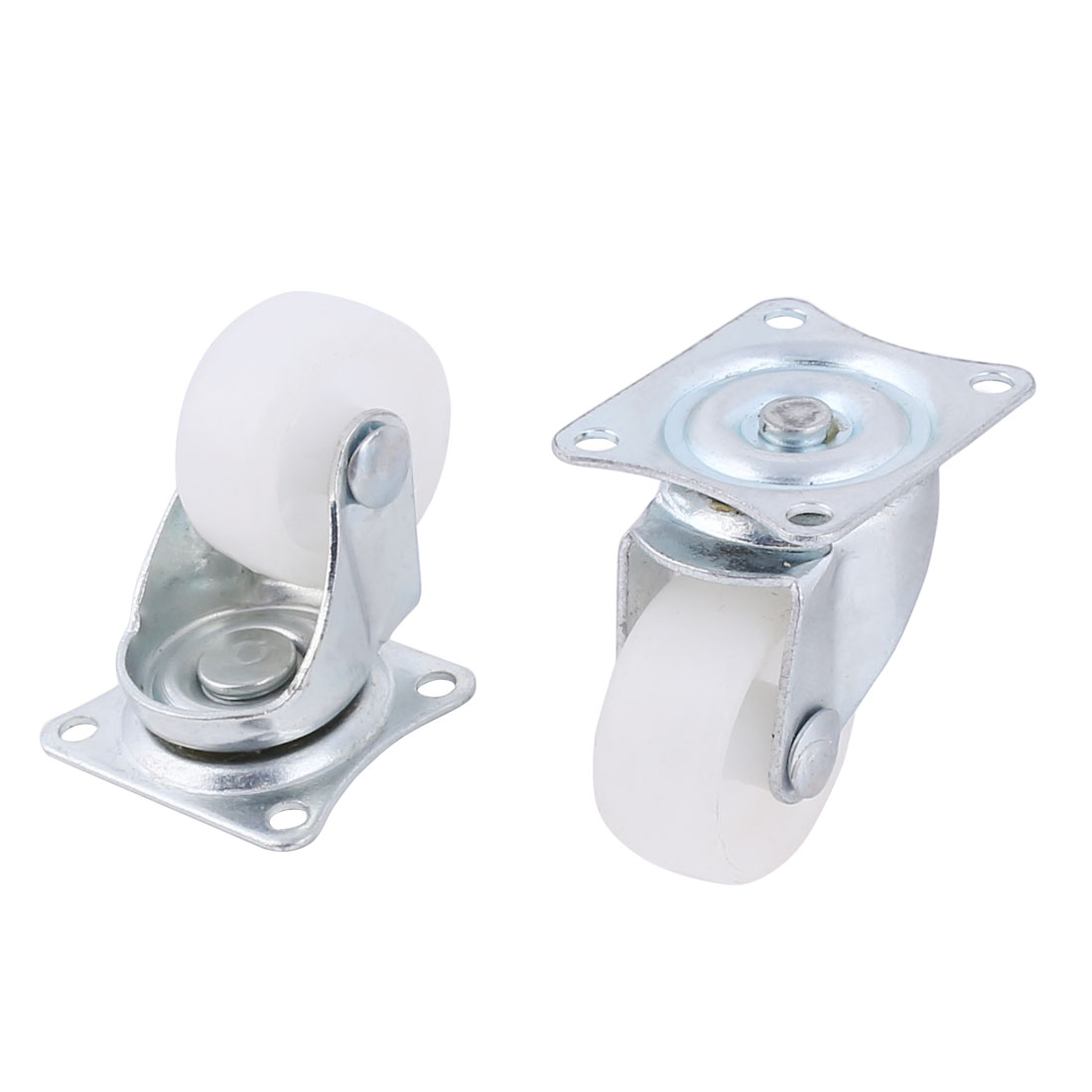 "Industrial Trolley Plastic Wheel 1.2"" Dia Swivel Top Plate Light Duty Caster"