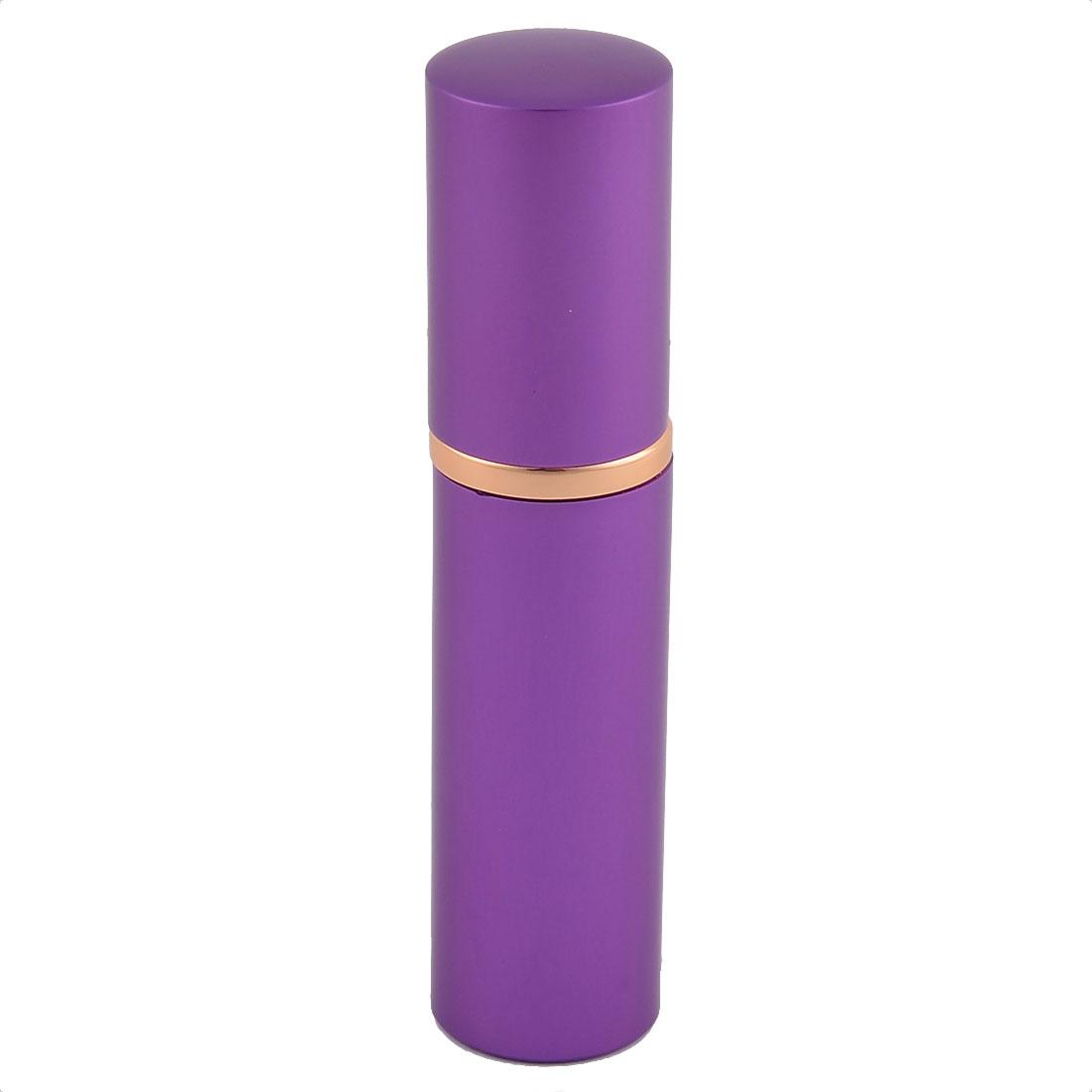 10mL Travel Portable Lipstick Shape Refillable Perfume Spray Bottle Atomizer Purple