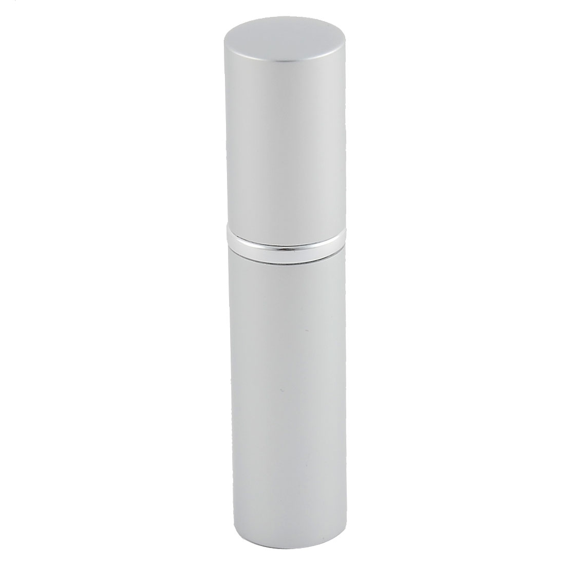 5mL Travel Portable Lipstick Shape Refillable Perfume Spray Bottle Silver Tone