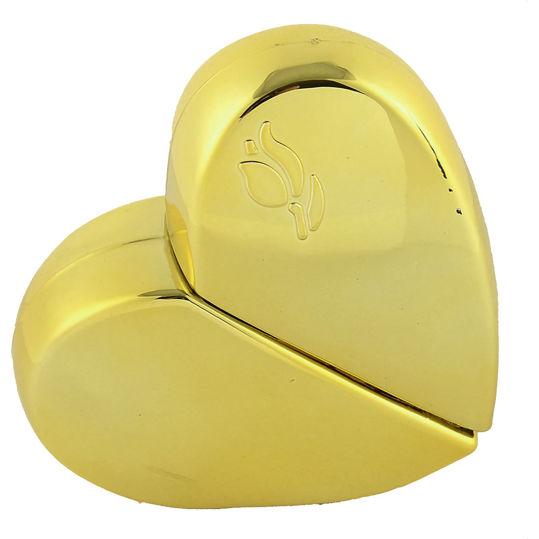 25mL Travel Portable Heart-shaped Water Perfume Spray Bottle Gold Tone