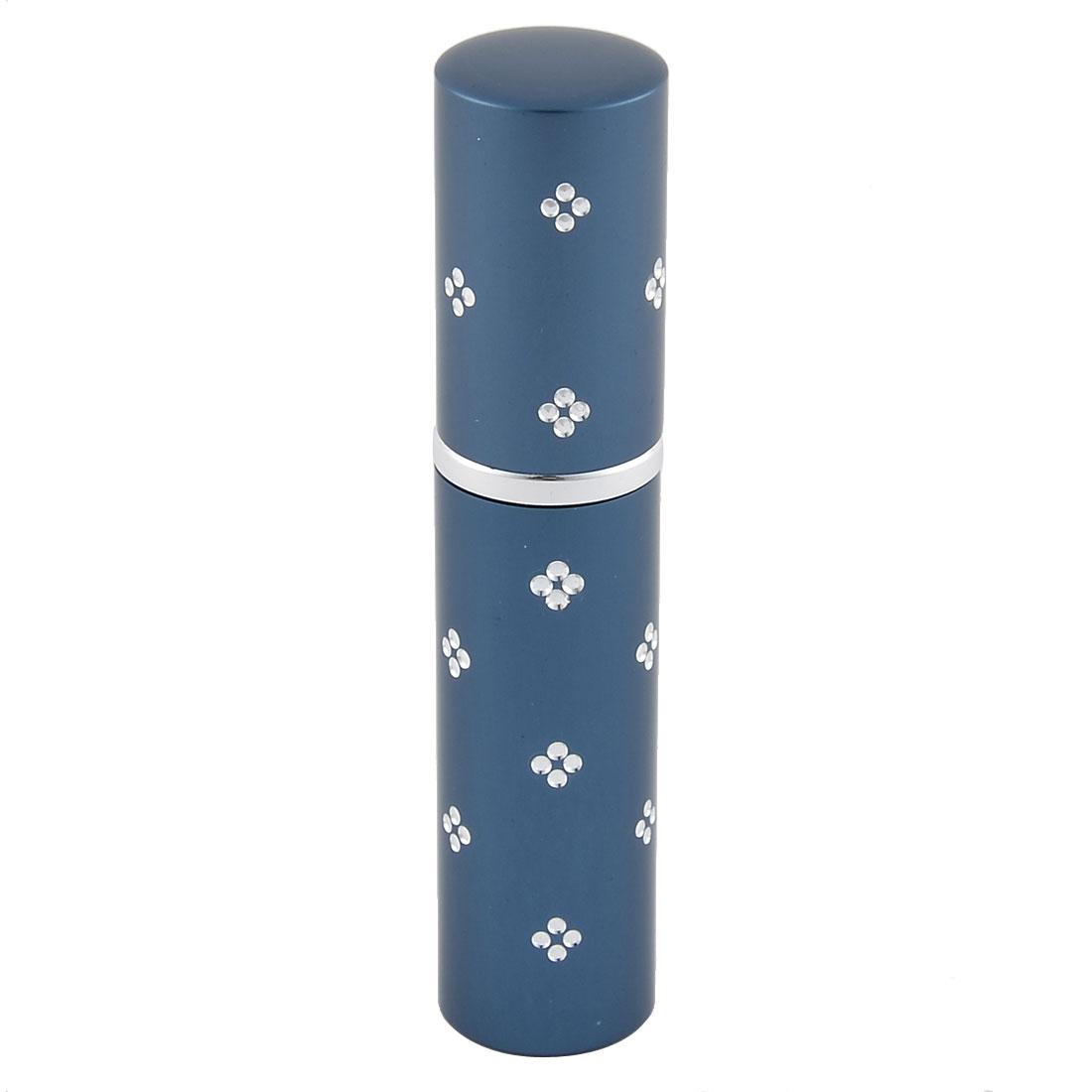 5mL Travel Portable Flower Decor Mini Refillable Scent Perfume Spray Bottle Blue