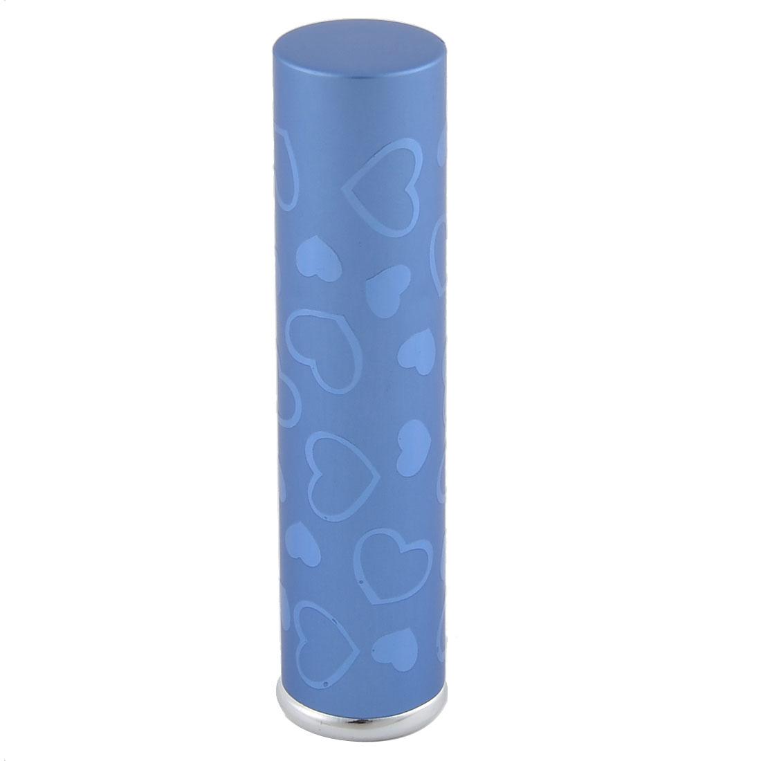 7mL Travel Portable Heart Pattern Mini Refillable Perfume Spray Bottle Blue