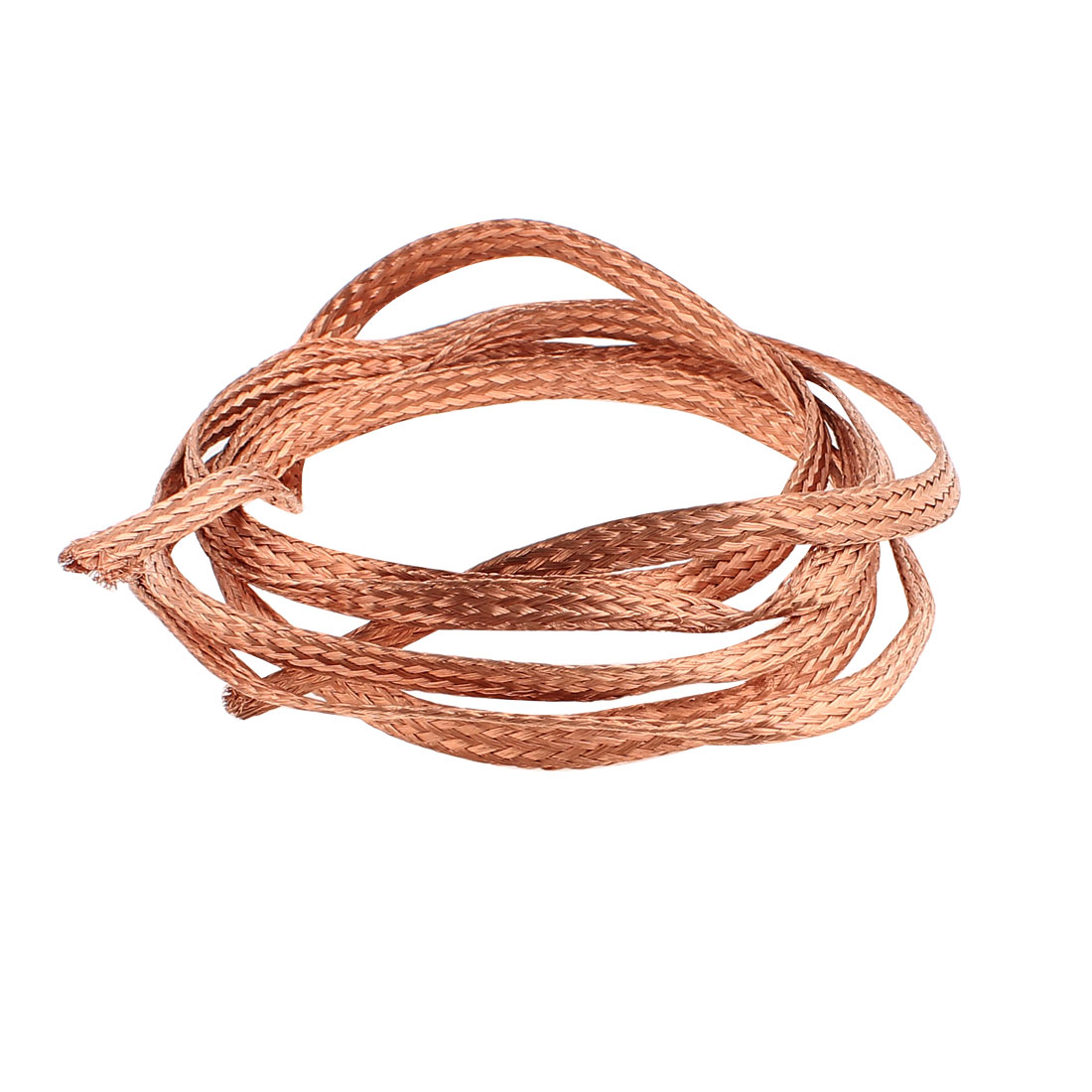 4 Square Millimeter Thickness 2M Length Flat Electrical Bare Braided Copper Wire