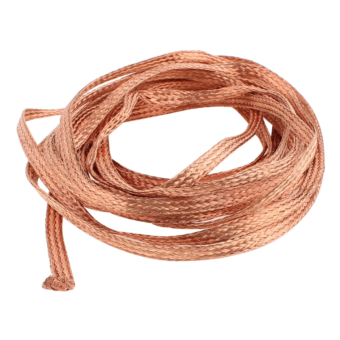 4 Square Millimeter Thickness 5M Length Flat Electrical Bare Braided Copper Wire