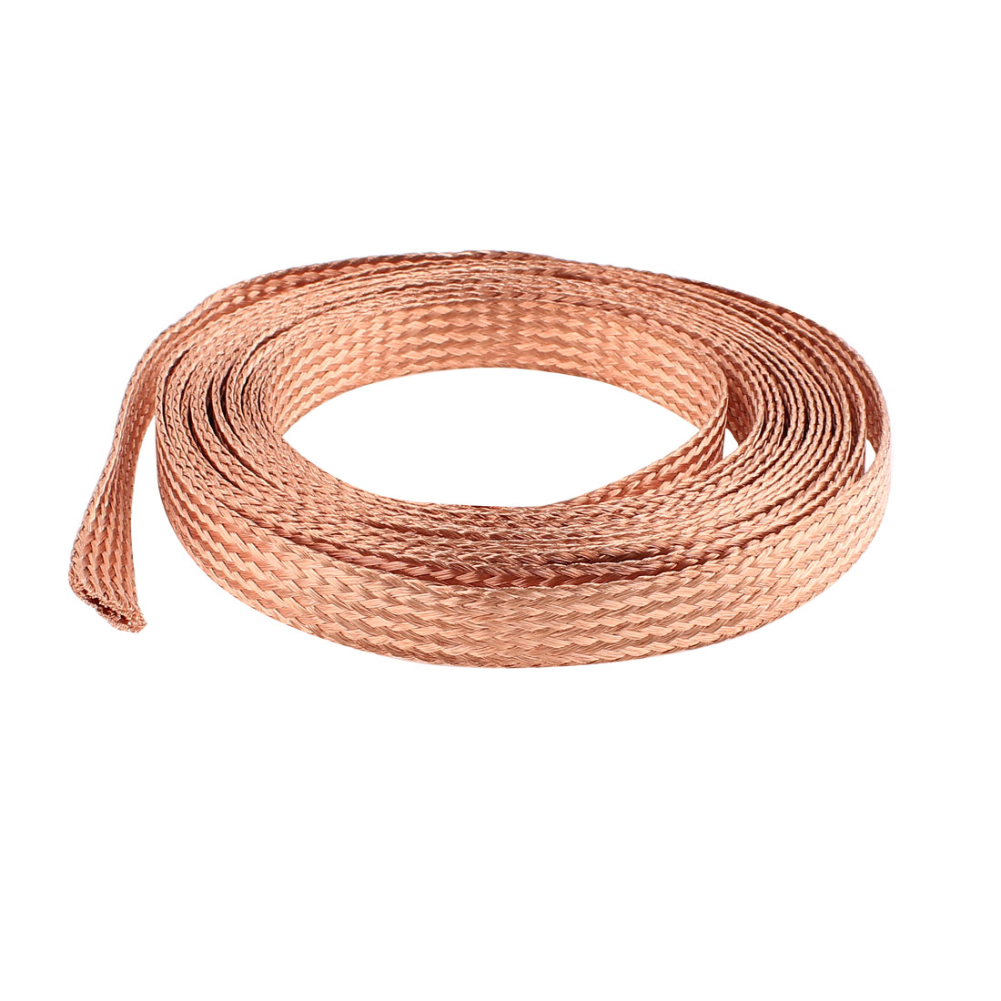 10 Square Millimeter Thickness 5M Length Flat Electrical Bare Braided Copper Wire