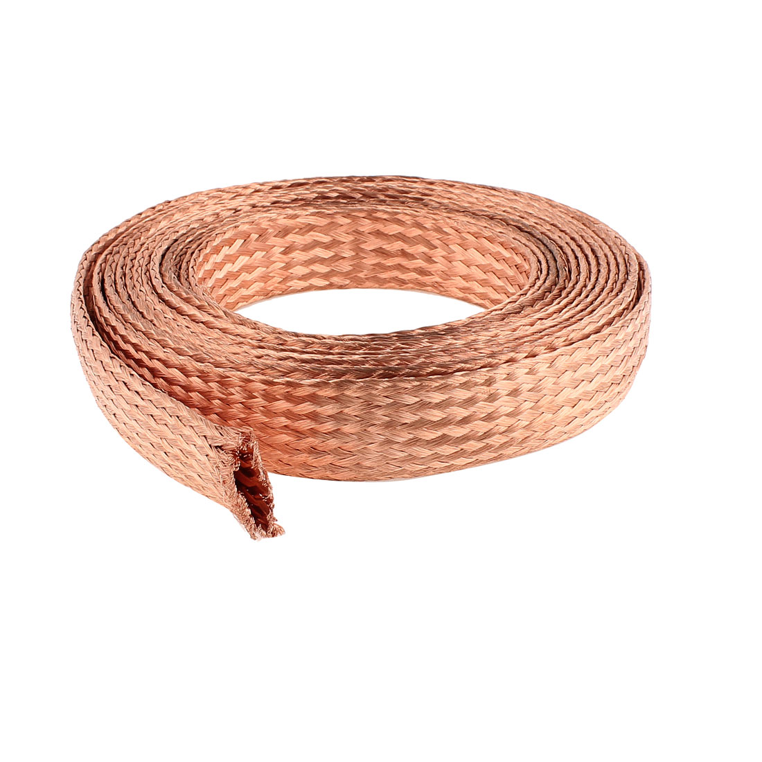 25 Square Millimeter Thickness 5M Length Electrial Flat Bare Braided Copper Wire