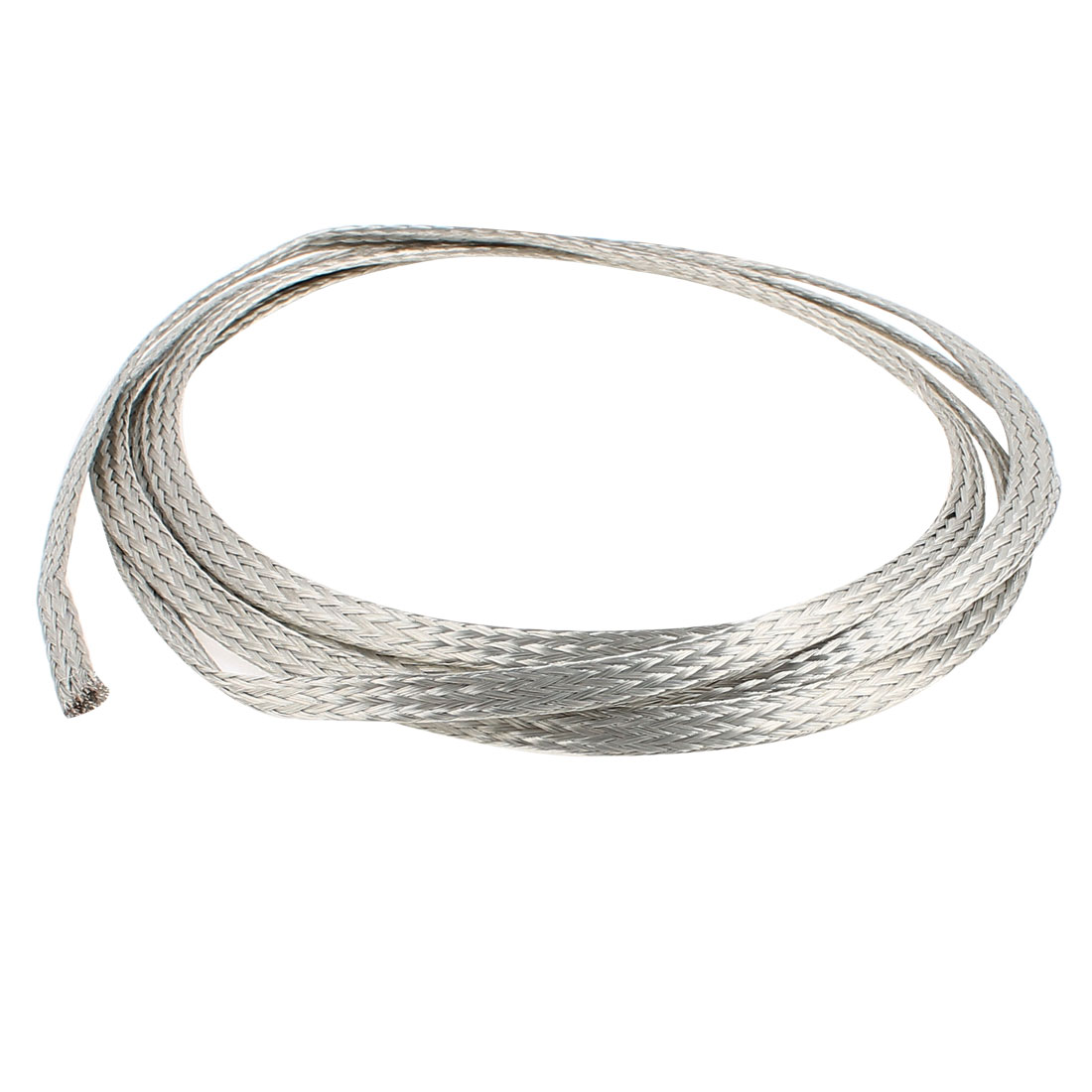 4 Square Millimeter Thickness 2M Length Flat Bare Tined Braided Copper Wire