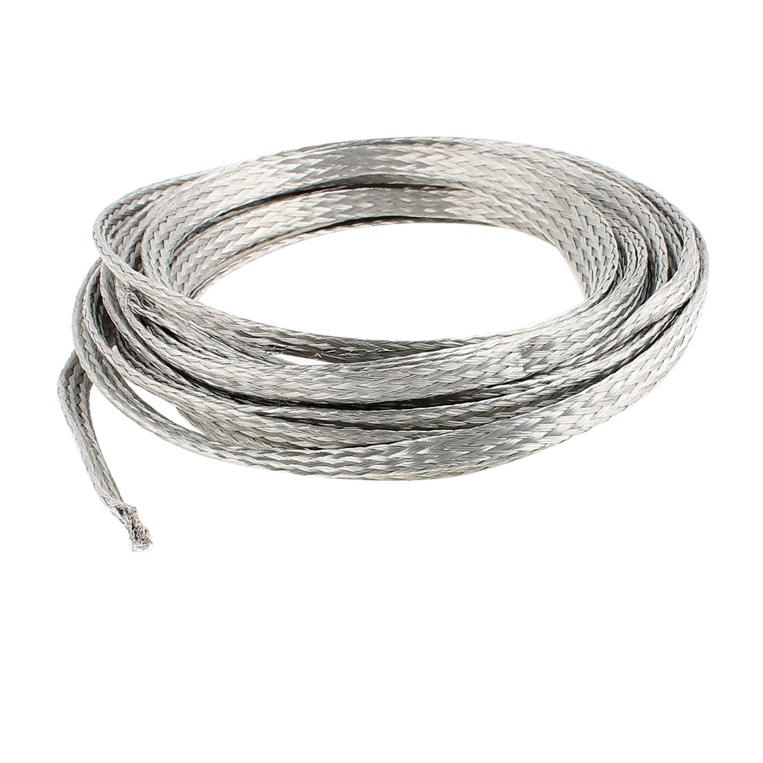 4 Square Millimeter Thickness 5M Length Flat Bare Tined Braided Copper Wire