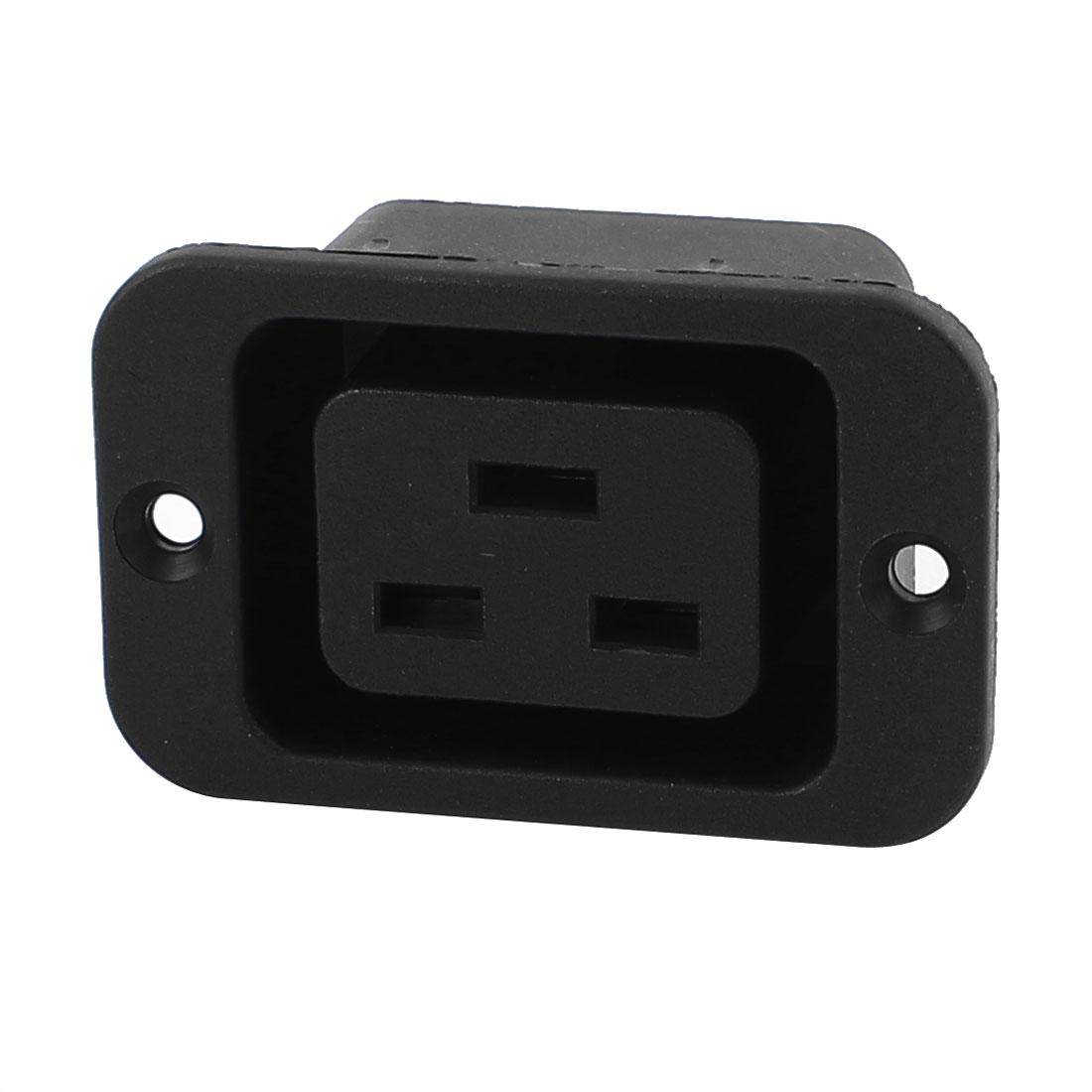 AC 250V 16A 3P Rewirable IEC19 Series C19 Female Socket w Screw Holes