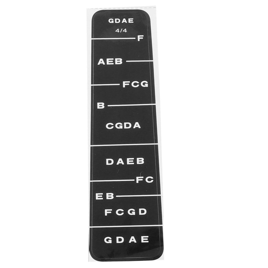 Music Violin Learner Beginner Neck Notes Fingering Chart Fingerboard Sticker