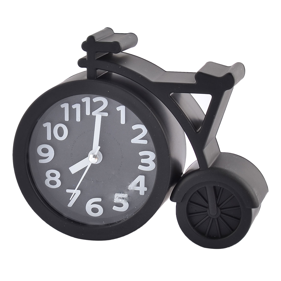 Household Office Desktop Plastic Bike Shaped Silent Battery Powered Arabic Number Alarm Clock Black