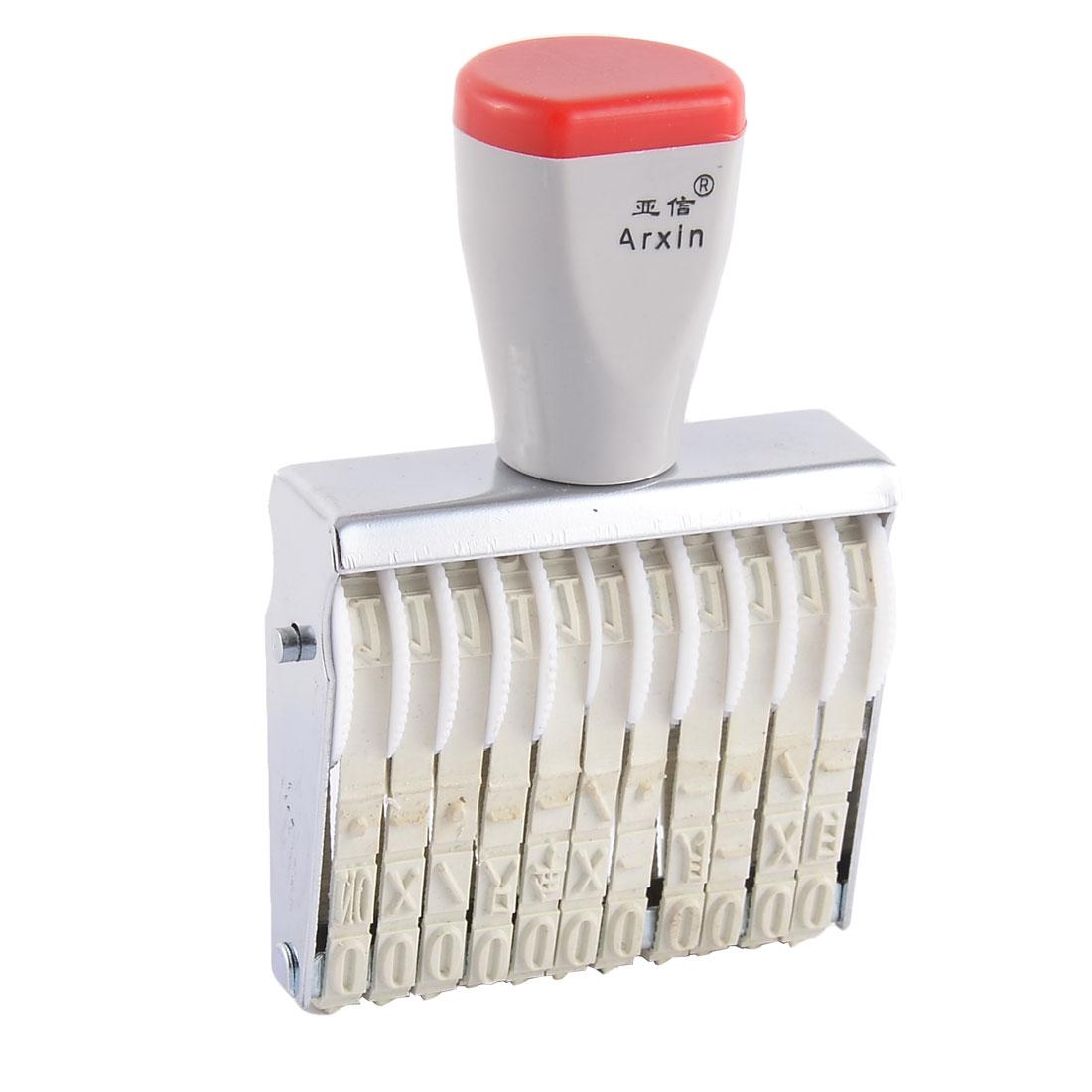 Office Supermarket 10 Digit Rubber Band Wheel Number Date Printing Stamp Printer