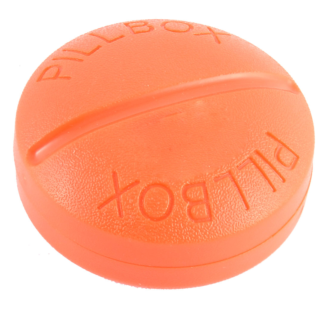 Plastic Round Shaped Daily Pill Medicine Storage Case Box Container Orange