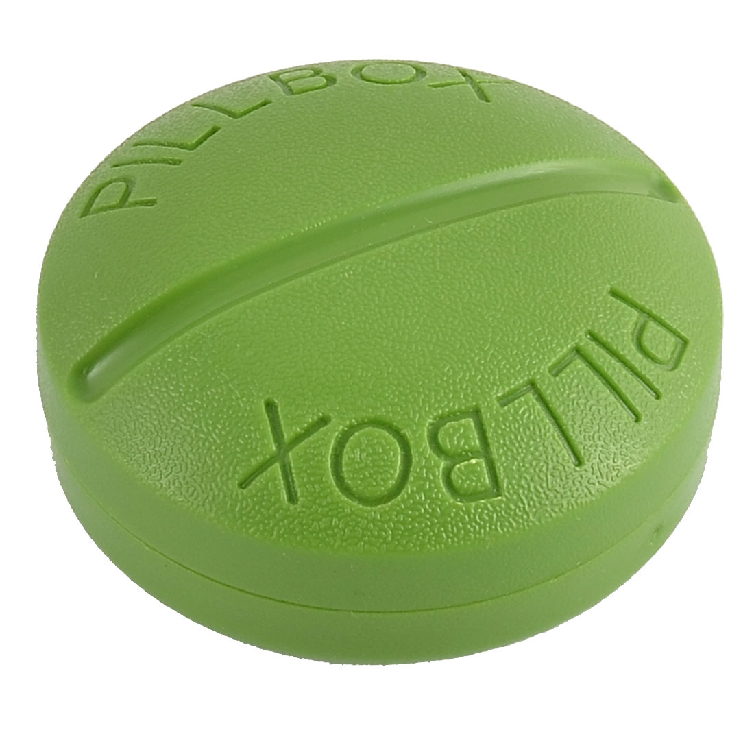 Plastic Round Design Daily Pill Tablet Medicine Storage Case Box Green