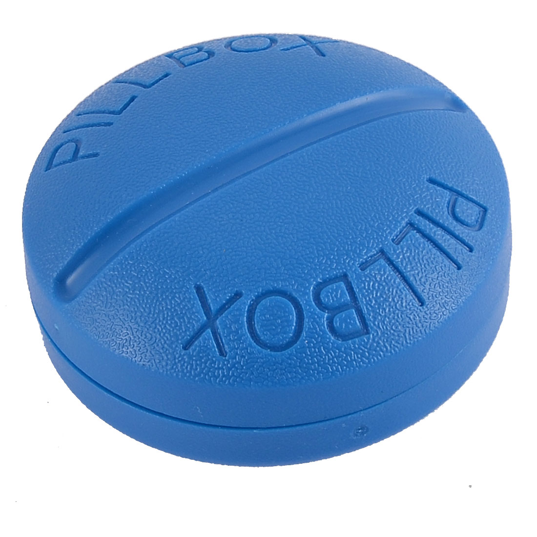 Plastic Round Shaped 4 Slots Portable Pill Medicine Storage Case Box Holder Blue