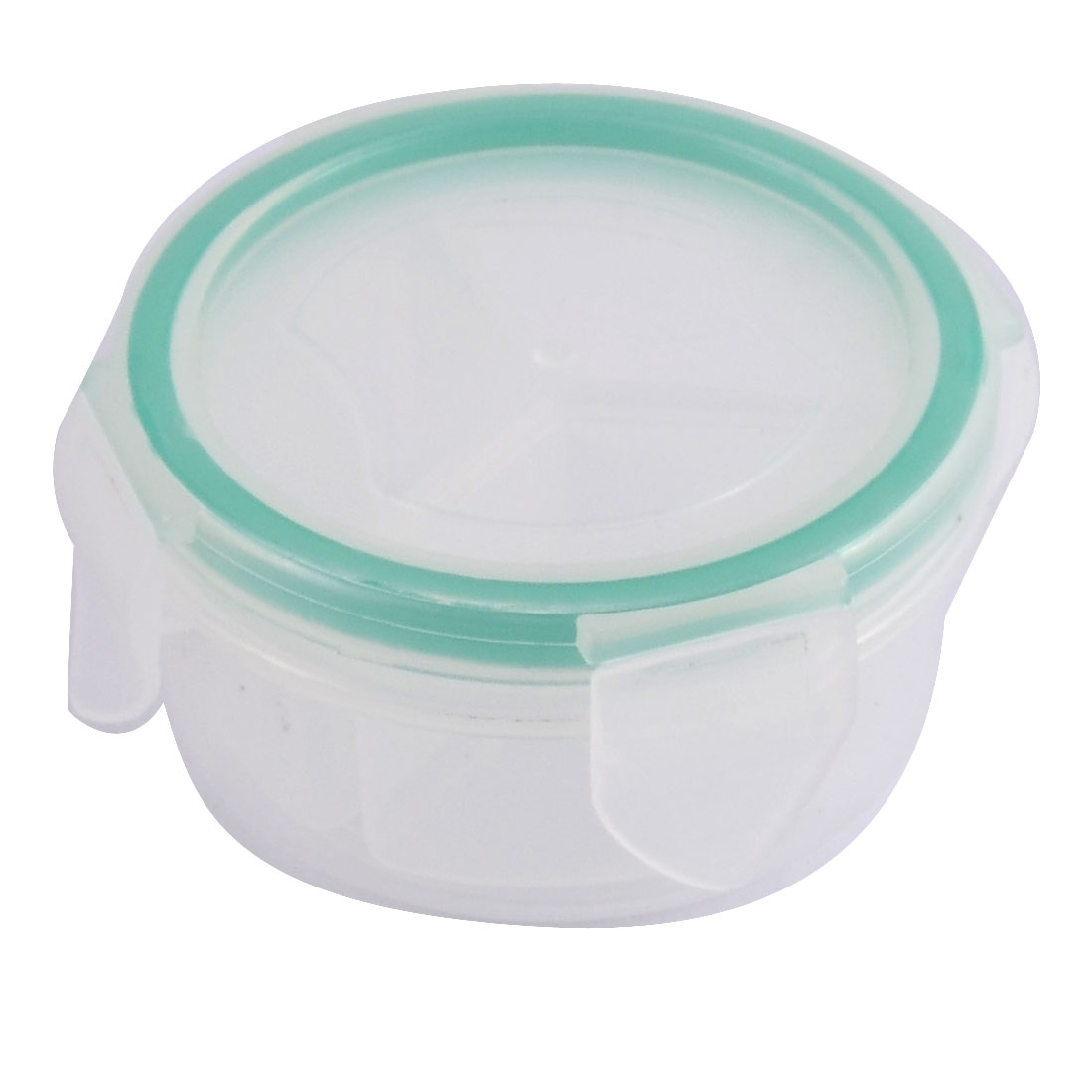 Plastic Round Shaped 3 Slots Pill Tablet Capsules Storage Case Box Holder Clear