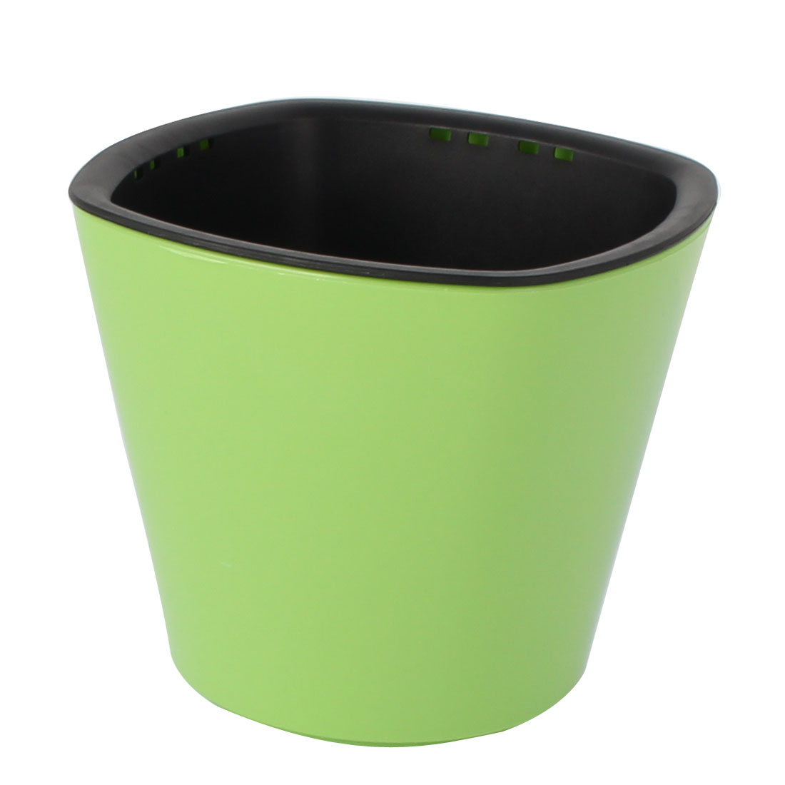 Home Garden Plastic Self Watering Planter Flowerpot Container Pot Apple Green