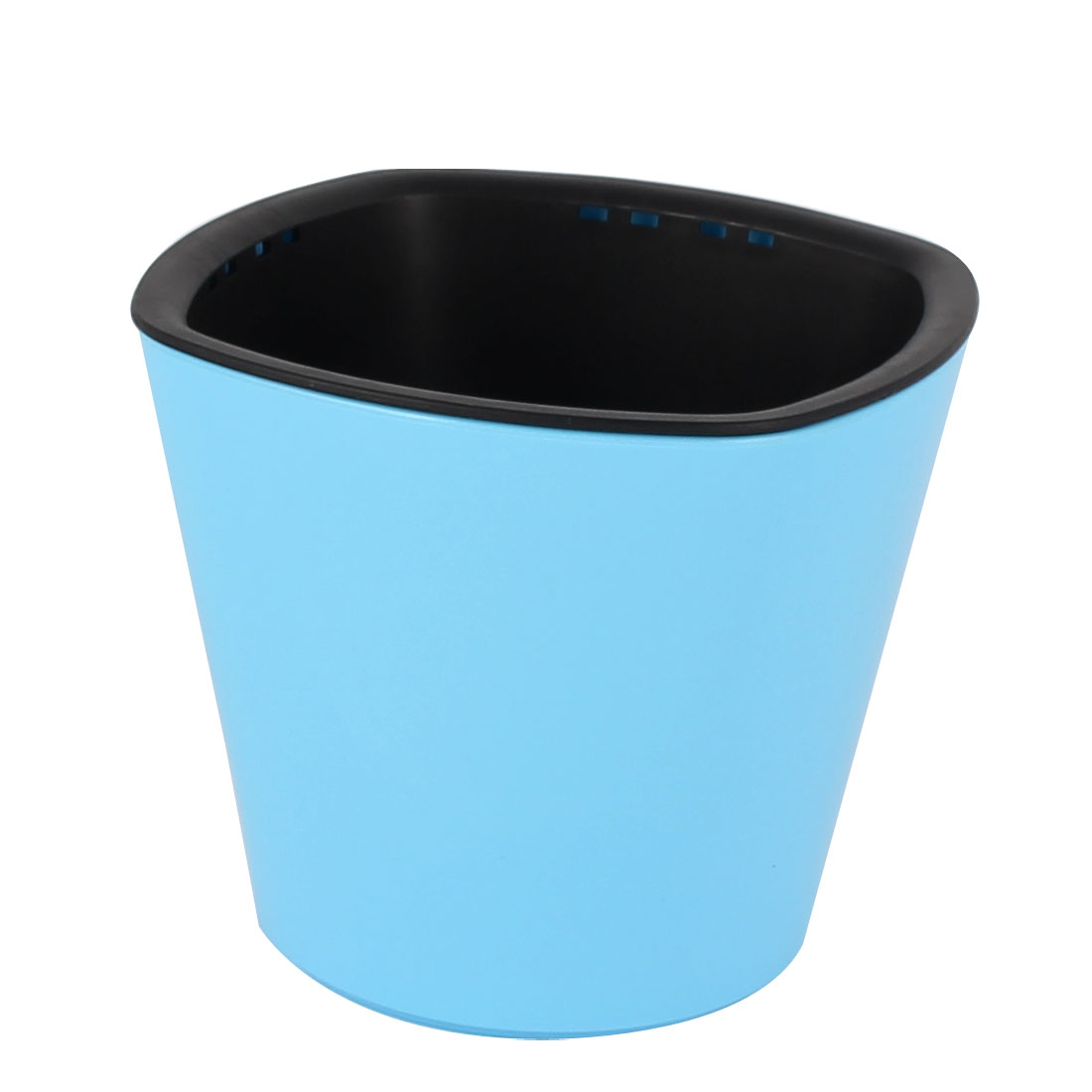 Home Office Plastic Rectangle Shape Self Watering Planter Flowerpot Light Blue