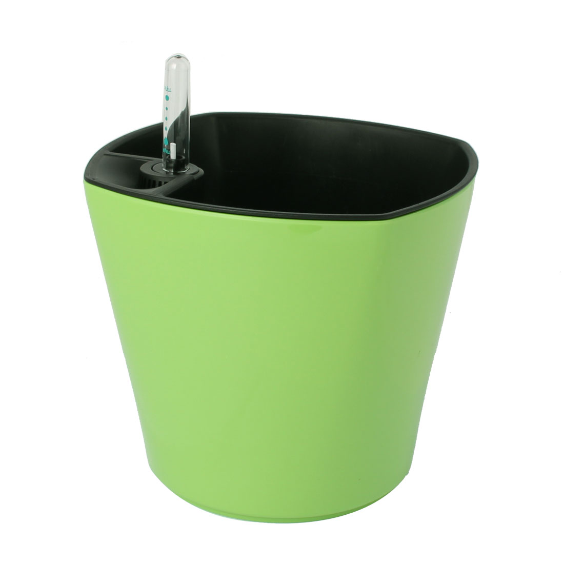 Plastic Self Watering Planter Flowerpot Pot Apple Green w Water Level Indicator