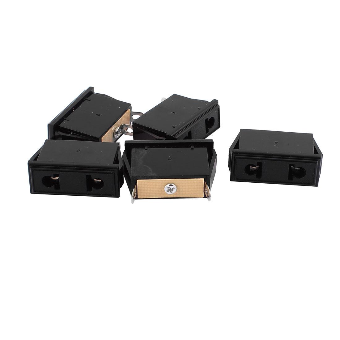 5pcs Universal AC 250V 10A 2P Flat Round Plug EU US Socket Power Adapter Black