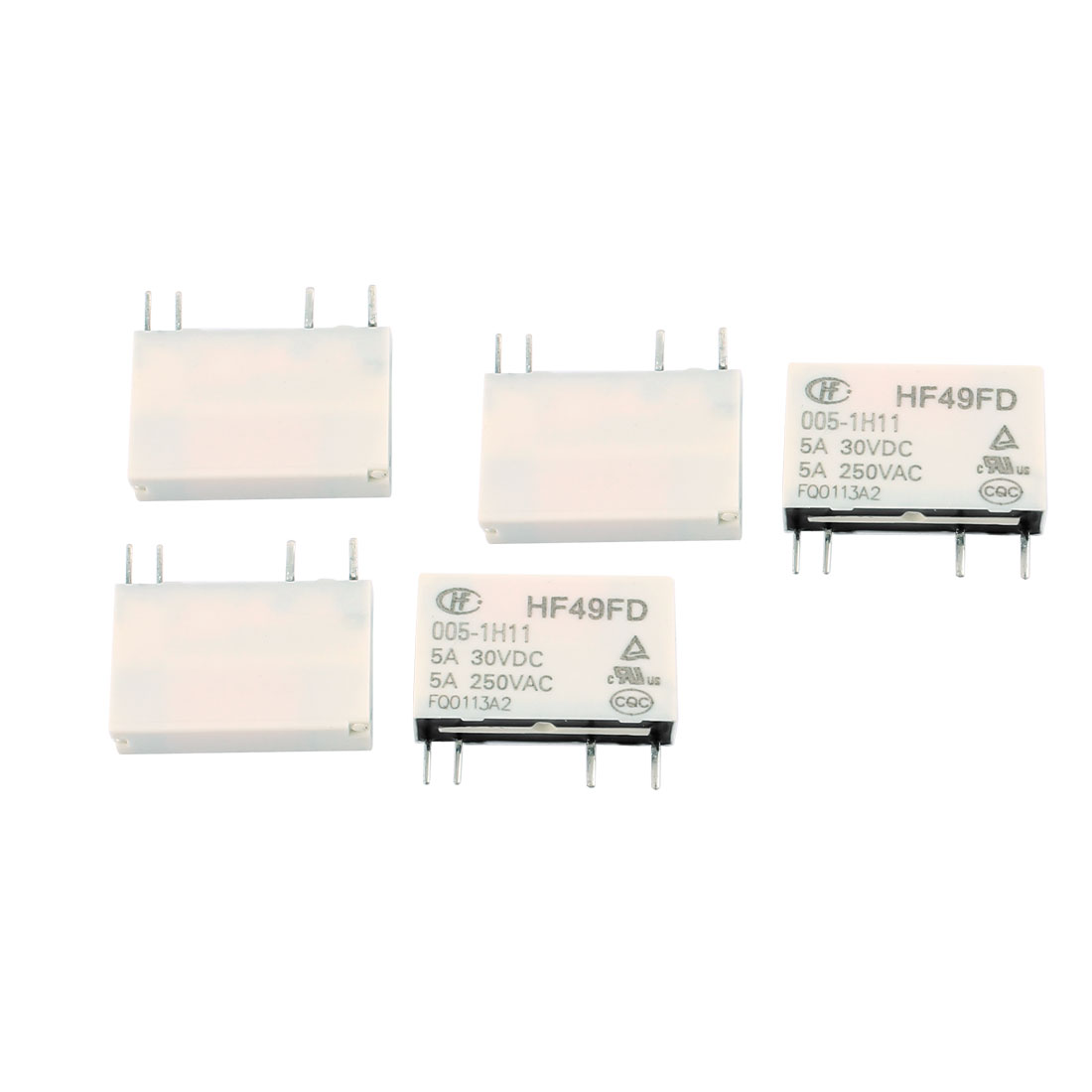 5 Pcs 30VDC 250VAC 5A 4 Terminal NO SPST HF49FD/005-1H11 Power Relay