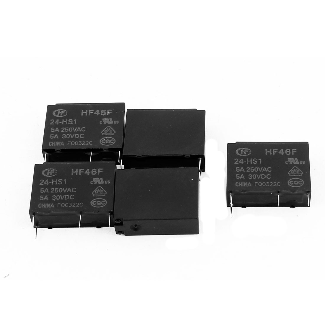 5 Pcs 24VDC 250VAC 10A 4 Terminal NO SPST HF32F-G/012-HS Power Relay