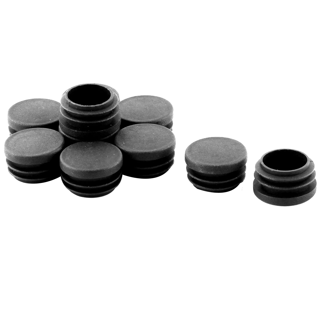 Furniture Legs Plastic Round Shaped Tube Pipe Inserts Protector 10 PCS